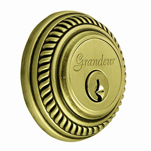 An image of Grandeur NEW-62-VB-KD House Brass Door Lock