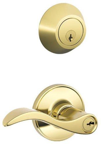 An image related to Schlage JC60V SEV 605 Entry Brass Lever Lockset Lock