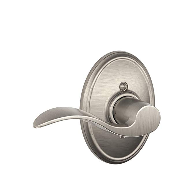 An image related to Schlage F170 ACC Satin Nickel Lever Lockset Lock