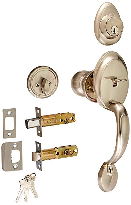 An image of Constructor CON-COM-SN Entry Satin Nickel Lever Lockset Lock
