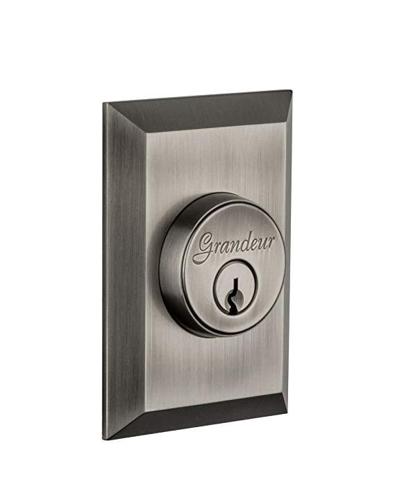 An image related to Grandeur FAV-62-AP-KD House Pewter Door Lock