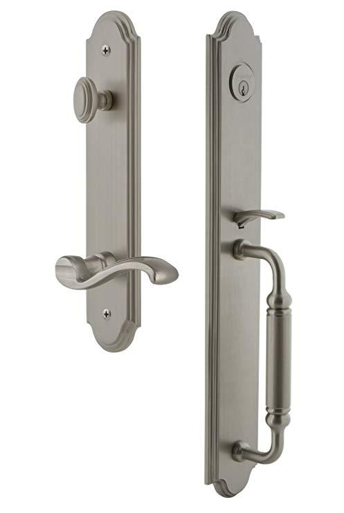 An image related to Grandeur 842993 Satin Nickel Lever Lockset Door Lock