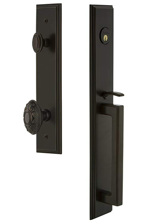 An image of Grandeur 845186 Brass Bronze Lever Lockset Lock