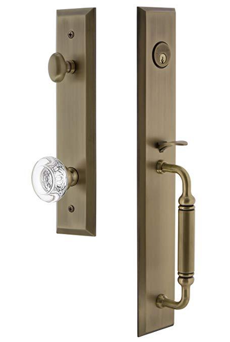 An image of Grandeur 842574 Brass Lever Lockset Lock