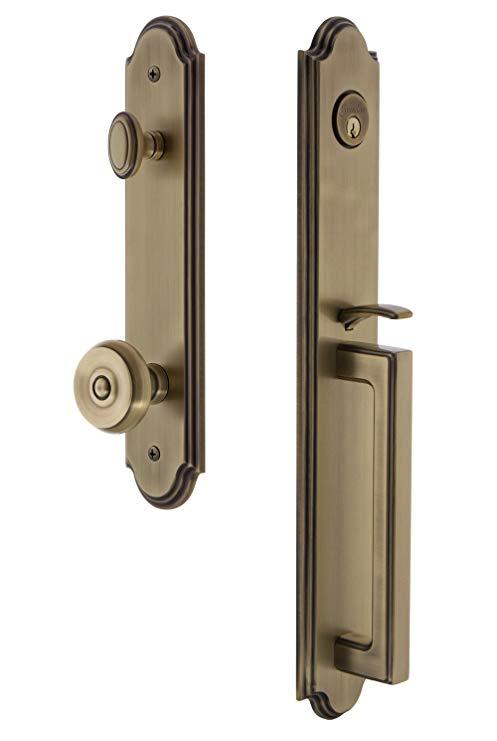 An image of Grandeur 843703 Brass Lever Lockset Door Lock | Door Lock Guide
