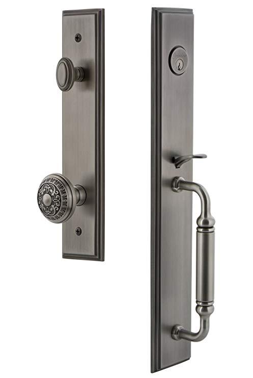 An image of Grandeur 842478 Pewter Lever Lockset Lock | Door Lock Guide