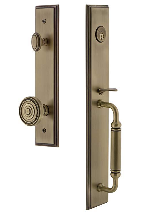 An image related to Grandeur 842453 Brass Lever Lockset Lock
