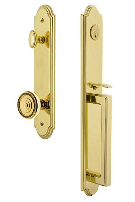 An image related to Grandeur 844327 Brass Lever Lockset Lock