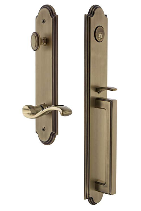 An image related to Grandeur 847132 Brass Lever Lockset Lock