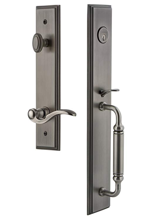 An image related to Grandeur 843020 Pewter Lever Lockset Lock