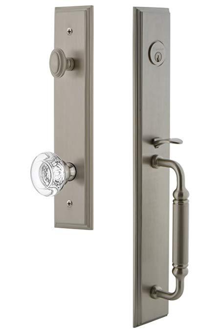 An image of Grandeur 842209 Brass Satin Nickel Lever Lockset Lock