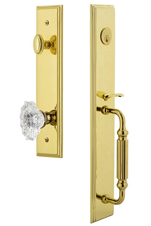 An image related to Grandeur 844639 Brass Lever Lockset Lock