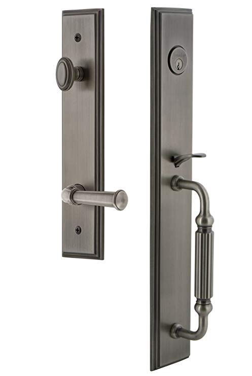 An image related to Grandeur 847236 Pewter Lever Lockset Lock