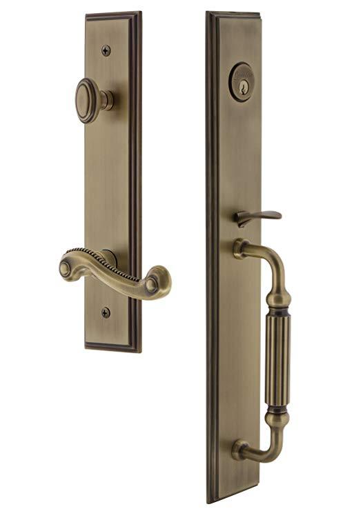 An image related to Grandeur 847452 Brass Lever Lockset Door Lock