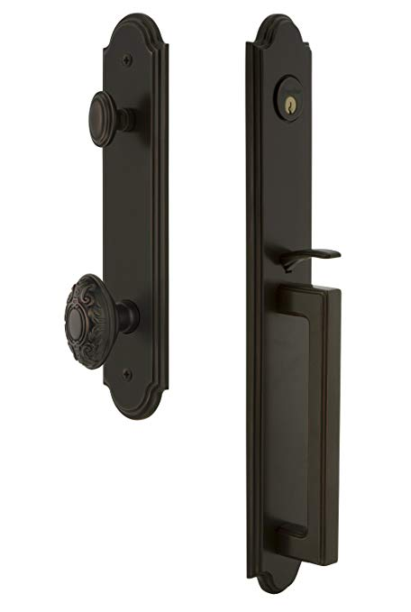 An image related to Grandeur 844110 Bronze Lever Lockset Lock