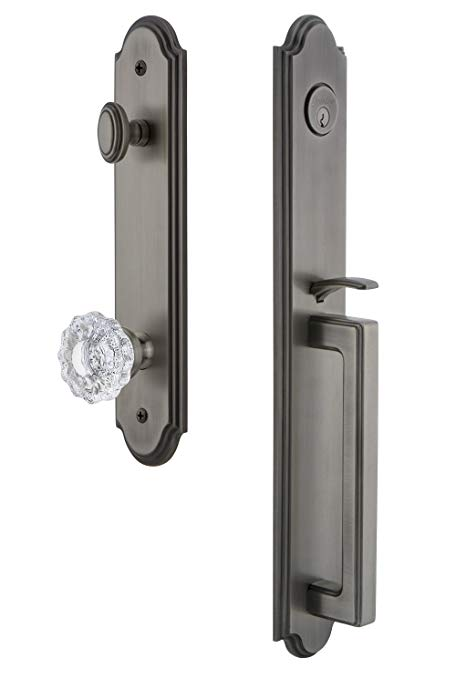 An image of Grandeur 844375 Brass Pewter Lever Lockset Lock | Door Lock Guide