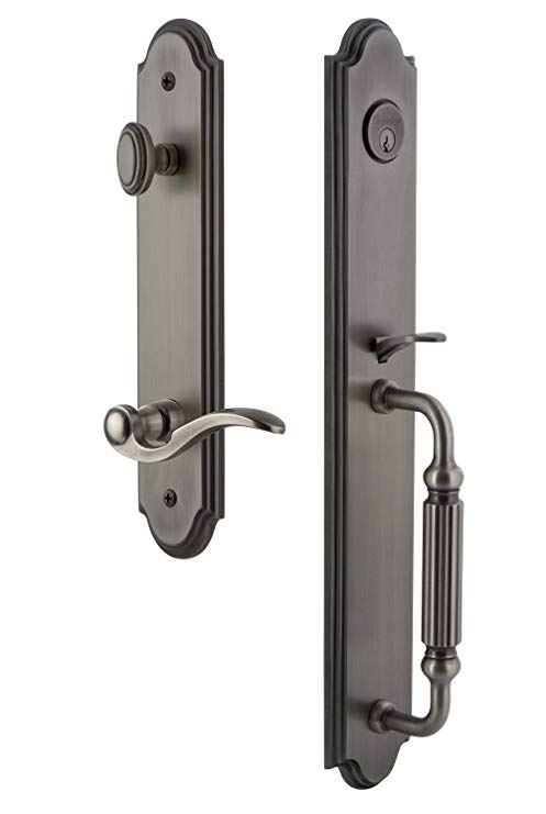 An image related to Grandeur 846661 Brass Pewter Lever Lockset Lock