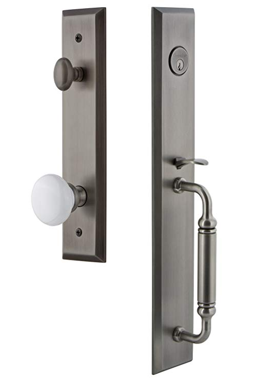 An image related to Grandeur 842738 Pewter Lever Lockset Lock