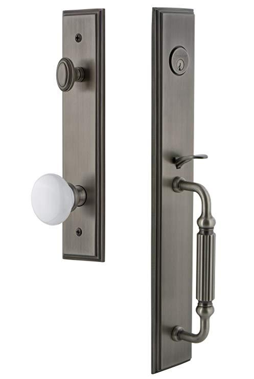 An image of Grandeur 845214 Brass Pewter Lever Lockset Lock
