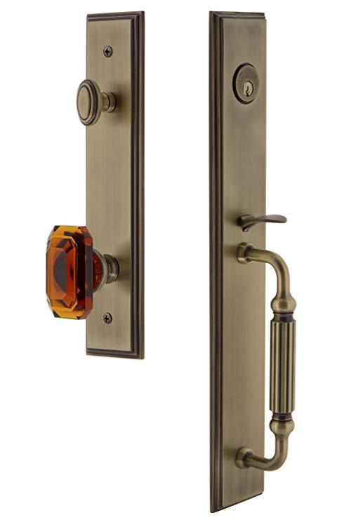 An image related to Grandeur 844554 Brass Lever Lockset Lock