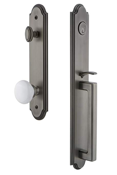 An image related to Grandeur 844135 Brass Pewter Lever Lockset Lock
