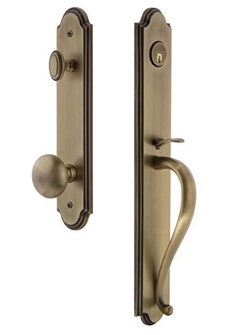 An image of Grandeur 844011 Brass Lever Lockset Lock