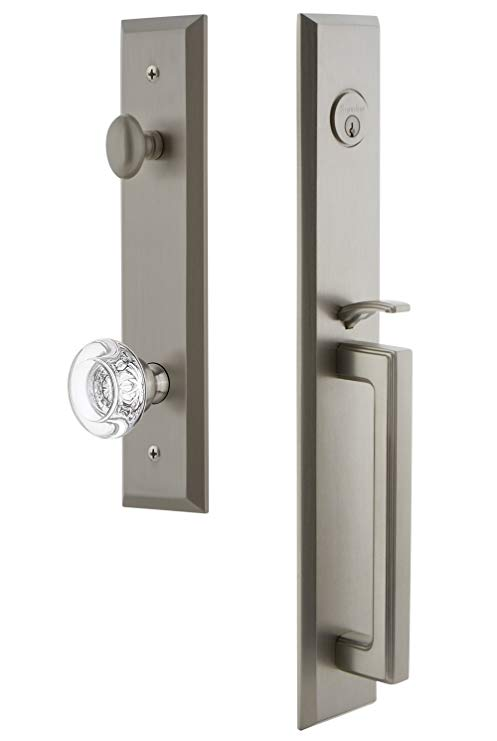 An image of Grandeur 845785 Satin Nickel Lever Lockset Lock