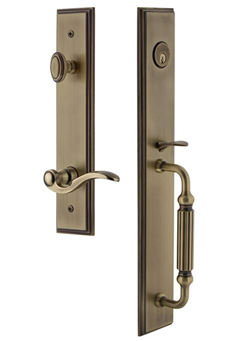 An image related to Grandeur 847213 Brass Lever Lockset Door Lock