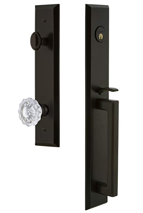 An image of Grandeur 846576 Brass Bronze Lever Lockset Lock