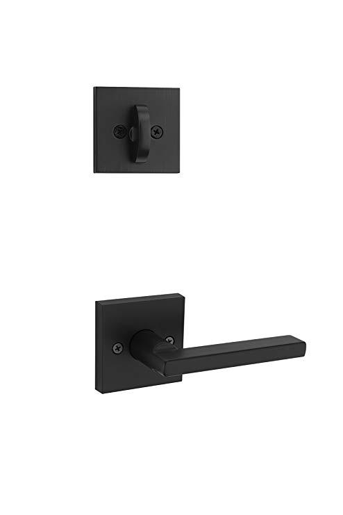 An image related to Kwikset 99660-148 Metal Iron Black Lever Lockset Lock