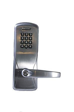 An image related to Schlage CO100CY70 KP ATH 626 PD Storeroom Satin Chrome Lever Lockset Lock
