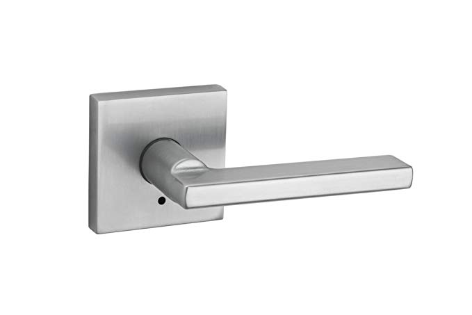 An image related to Kwikset 155HFLSQT-26D Privacy Satin Chrome Lever Lockset Lock
