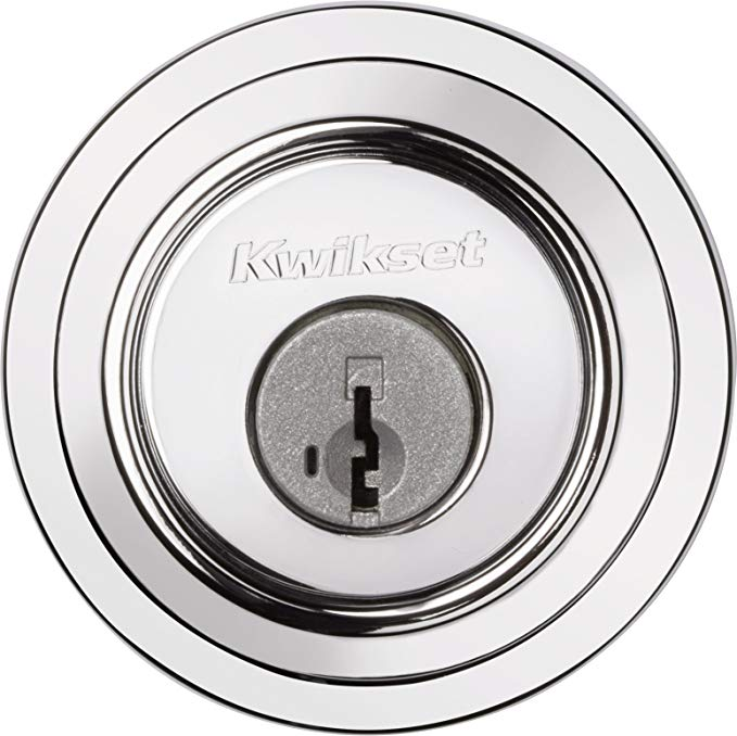 An image related to Kwikset 96600-681 Bathroom Polished Chrome Lock