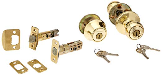 An image of Kwikset 90P 3 6AL RCS 690 Entry Polished Brass Lock
