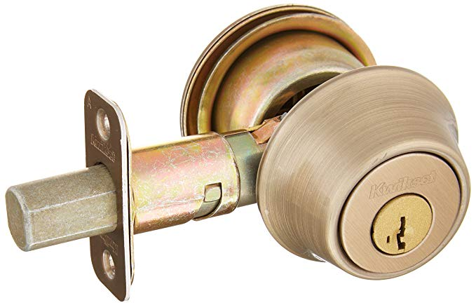 An image of Kwikset 96600-574 Brass Lever Lockset Lock