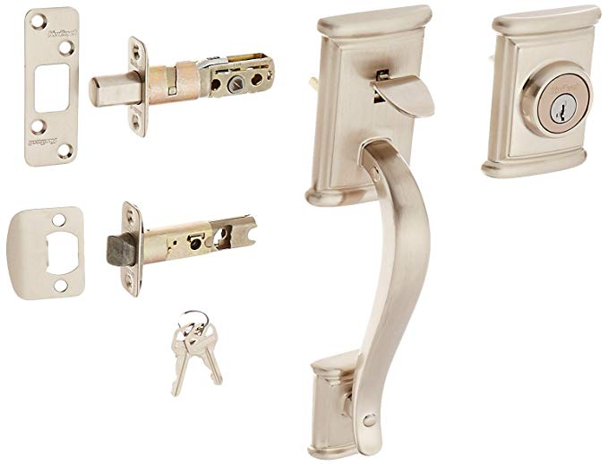 An image of Kwikset 98001-187 Satin Nickel Lever Lockset Door Lock