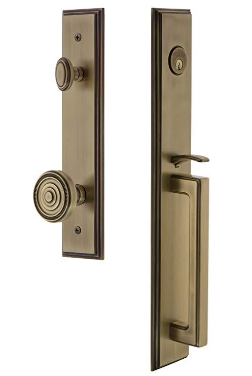 An image related to Grandeur 845438 Brass Lever Lockset Lock
