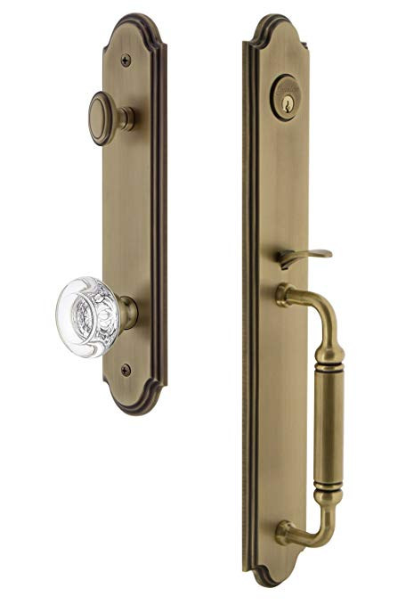 An image related to Grandeur 841858 Brass Lever Lockset Lock