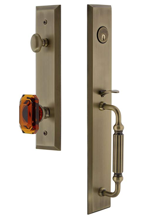 An image of Grandeur 845633 Brass Lever Lockset Lock