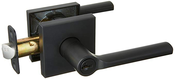 An image related to Kwikset 156LSLSQT-514S Entry Iron Black Lever Lockset Lock