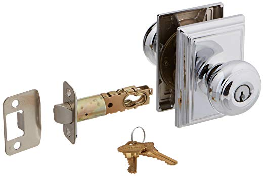 An image of Schlage F51AGEO625ADD Entry Polished Chrome Lock