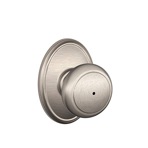 An image of Schlage F40 AND 619 WKF House Privacy Satin Nickel Lock | Door Lock Guide