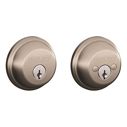 An image of Schlage B362NV619 Satin Nickel Lock