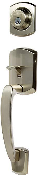 An image related to Schlage F60GRW619GEO Satin Nickel Lever Lockset Lock