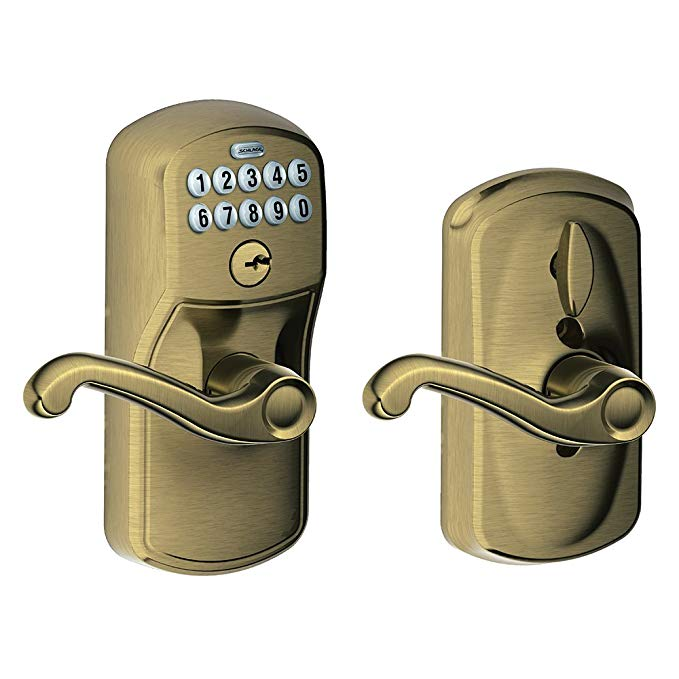 An image related to Schlage FE595 V Entry Brass Lever Lockset Lock