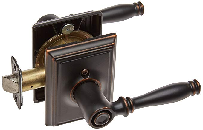 An image related to Schlage F40BIR716ADD Bathroom Bronze Lever Lockset Lock