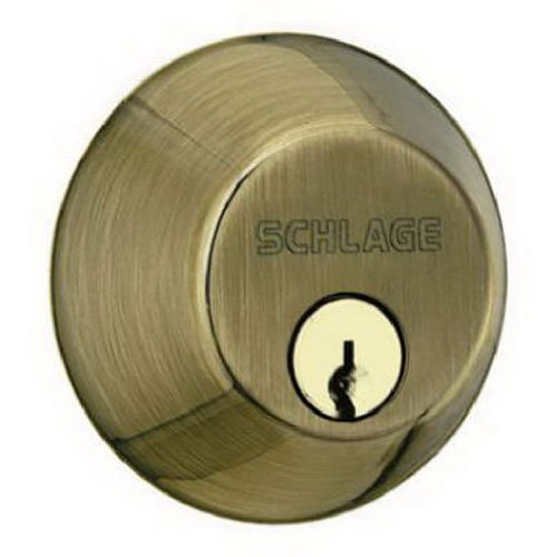 An image related to Schlage B60N609 Antique Brass Lock