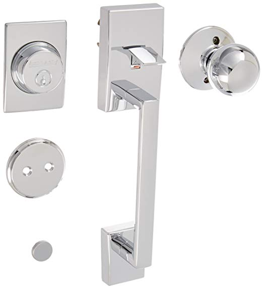 An image related to Schlage F93CEN625ORB Chrome Effect Lever Lockset Lock