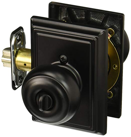 An image related to Schlage F51AGEO622ADD Entry Black Lock