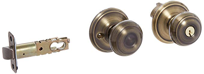 An image related to Schlage F80GEO609 Storeroom Brass Lock